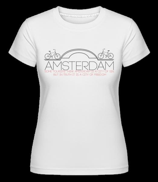 Amsterdam Netherlands - T-shirt Shirtinator femme - Blanc - Devant