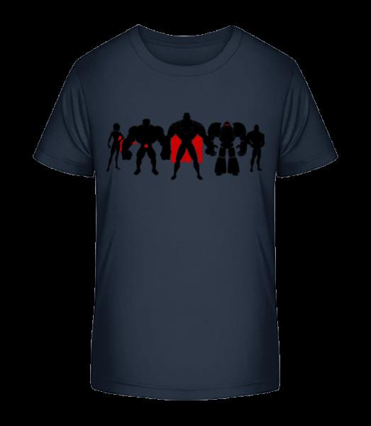 Superman League - T-shirt bio Premium Enfant - Bleu marine - Devant