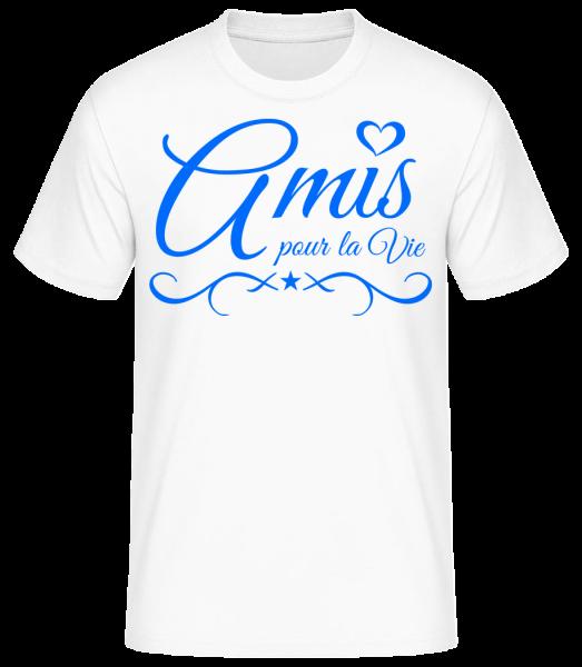 Amis Pour La Vie - T-shirt standard homme - Blanc - Devant