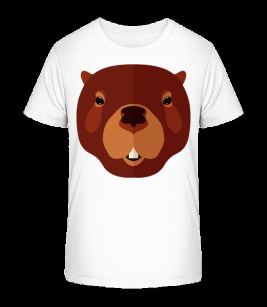 Castor Comic - T-shirt bio Premium Enfant - Blanc - Devant