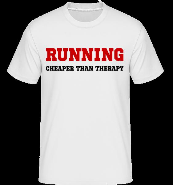 Running - Cheaper Than Therapy - T-Shirt Shirtinator homme - Blanc - Devant