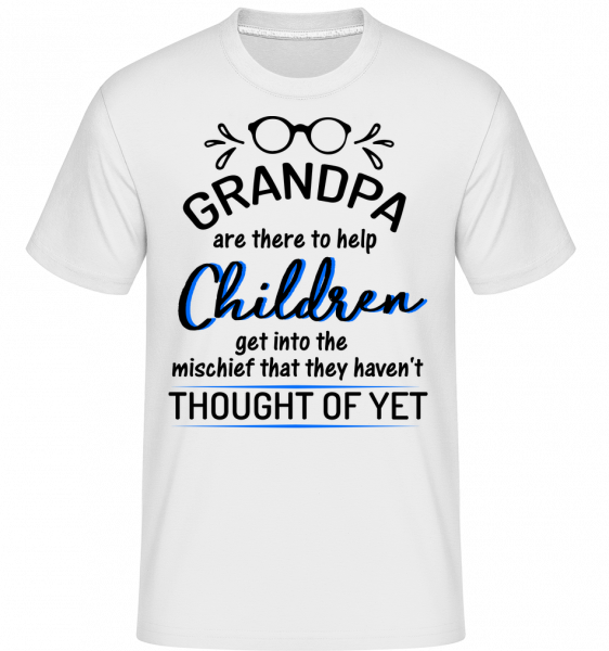 Granpas Are There To Help - T-Shirt Shirtinator homme - Blanc - Devant