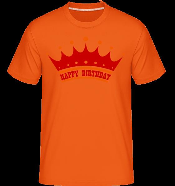 Happy Birthday Couronne - T-Shirt Shirtinator homme - Orange - Devant