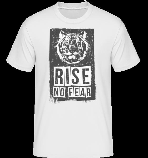 Rise No Fear Tiger - T-Shirt Shirtinator homme - Blanc - Devant