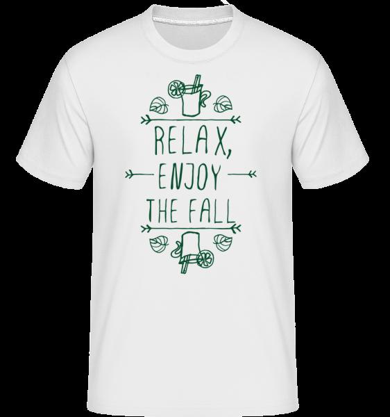 Relax, Enjoy The Fall - T-Shirt Shirtinator homme - Blanc - Devant
