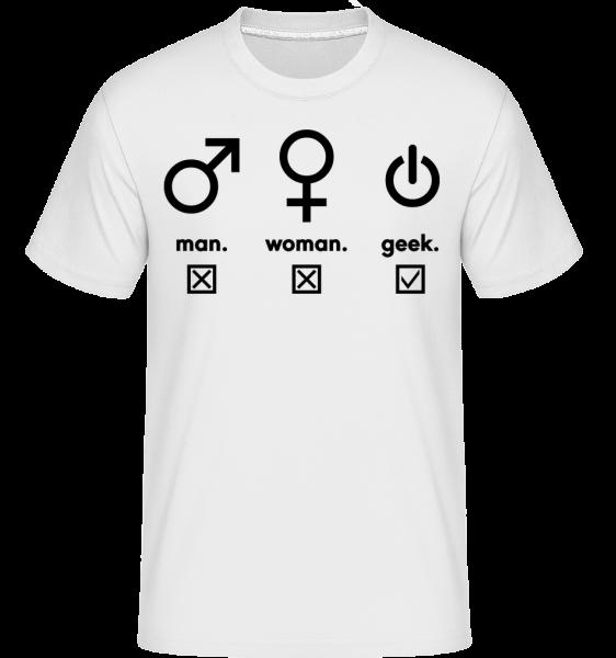 Man Woman Geek Symbols - T-Shirt Shirtinator homme - Blanc - Devant