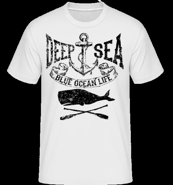 Deep Sea Ocean Icon - T-Shirt Shirtinator homme - Blanc - Devant