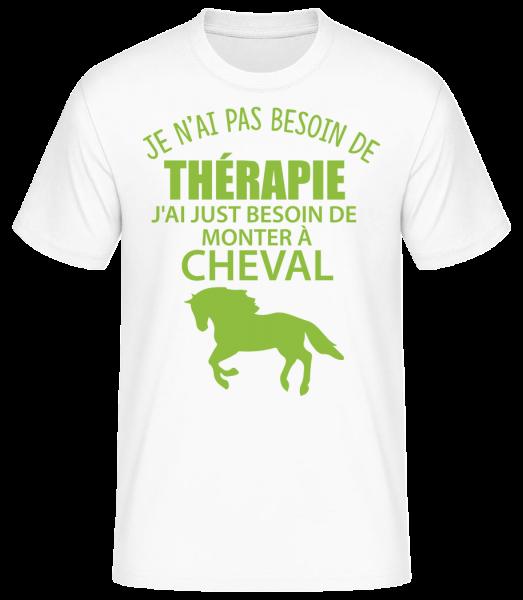 Monter À Cheval - T-shirt standard homme - Blanc - Devant