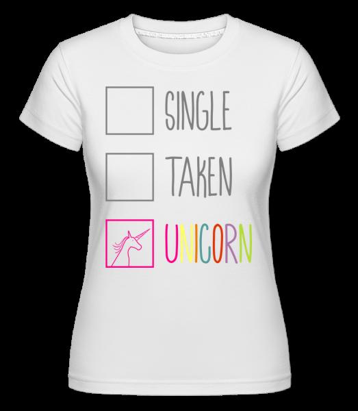 Single Taken Unicorn - T-shirt Shirtinator femme - Blanc - Devant