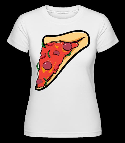 Morceau De Pizza - T-shirt Shirtinator femme - Blanc - Devant
