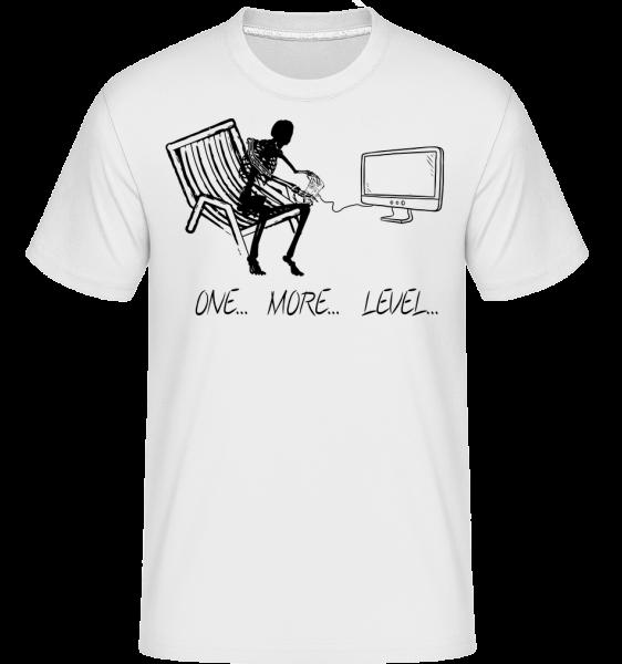 One More Level - T-Shirt Shirtinator homme - Blanc - Devant
