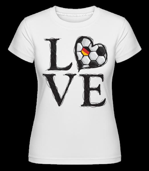 Football Amour Allemagne - T-shirt Shirtinator femme - Blanc - Devant