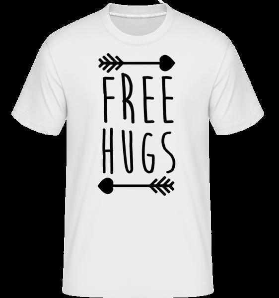 Free Hugs - T-Shirt Shirtinator homme - Blanc - Devant