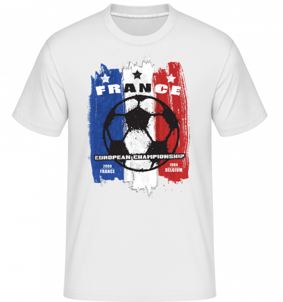 Football France - T-Shirt Shirtinator homme - Blanc - Devant