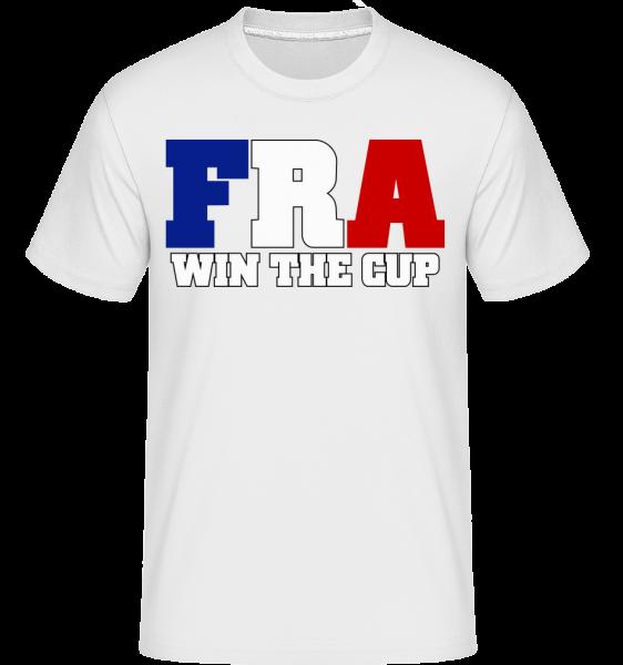 FRA Va Gagner La Coupe - T-Shirt Shirtinator homme - Blanc - Devant