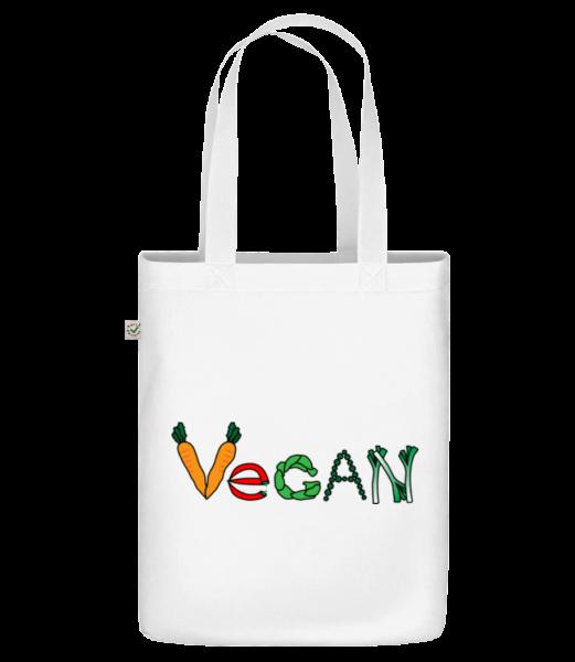 Vegan Comic - Sac en toile bio Earth Positive - Blanc - Devant
