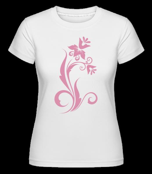 Flower Ornament Pink - T-shirt Shirtinator femme - Blanc - Devant