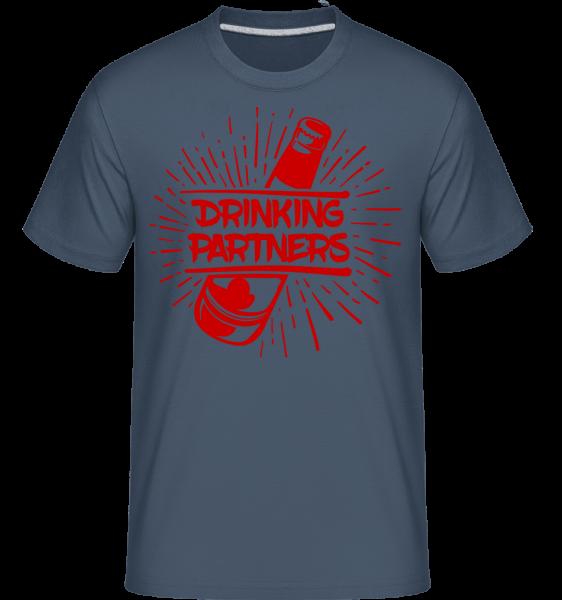 Drinking Partners -  T-Shirt Shirtinator homme - Bleu denim - Devant