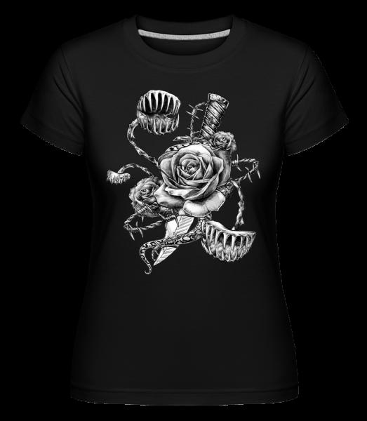 Carnivorous Roses - T-shirt Shirtinator femme - Noir - Devant