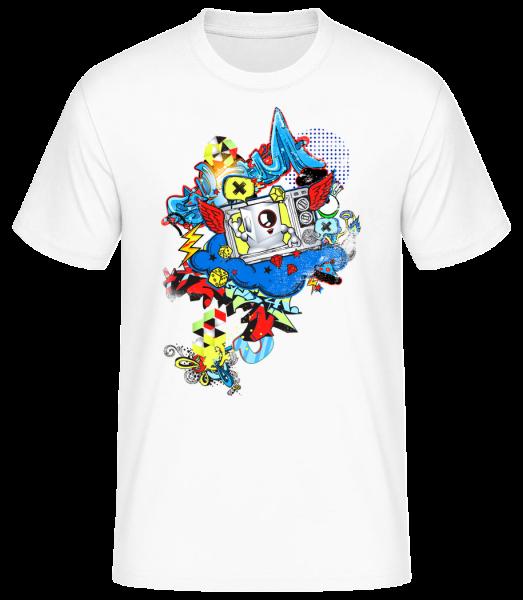 Graffiti Moderne - T-shirt standard homme - Blanc - Devant