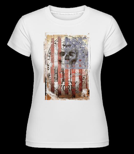 Crâne De New York -  T-shirt Shirtinator femme - Blanc - Devant