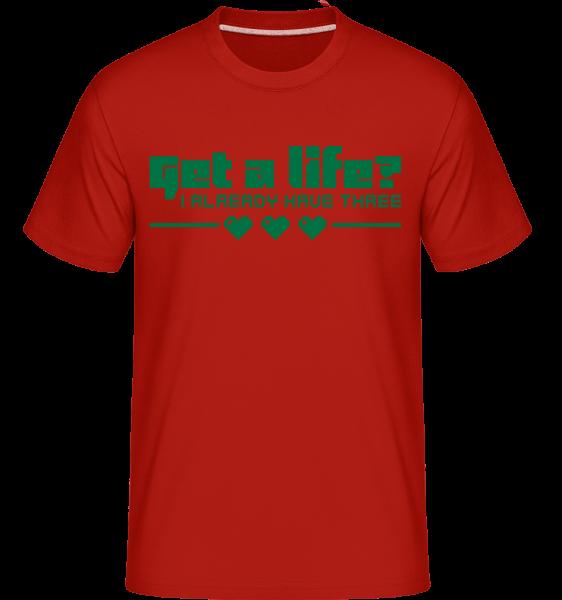 Get A Life? -  T-Shirt Shirtinator homme - Rouge - Devant