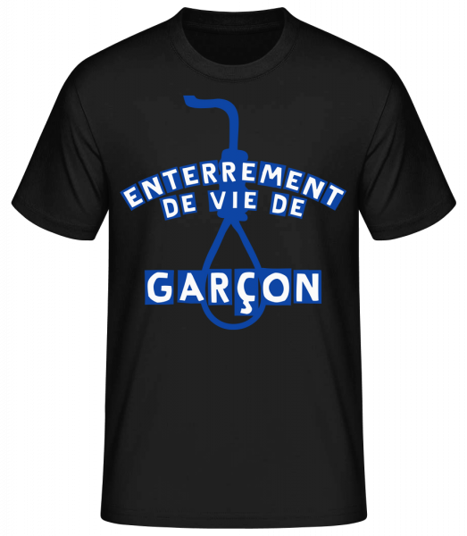 Enterrement De Vie De Garçon - T-shirt standard Homme - Noir - Devant
