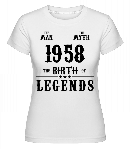 The Myth 1958 - T-shirt Shirtinator femme - Blanc - Devant