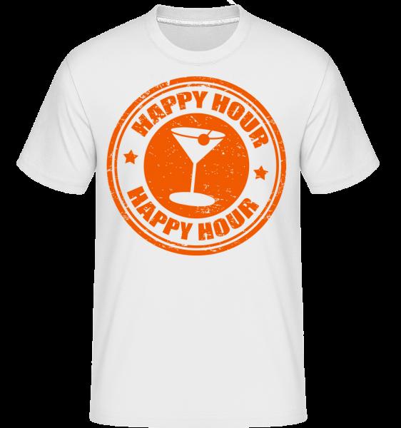 Happy Hour Cocktail - T-Shirt Shirtinator homme - Blanc - Devant
