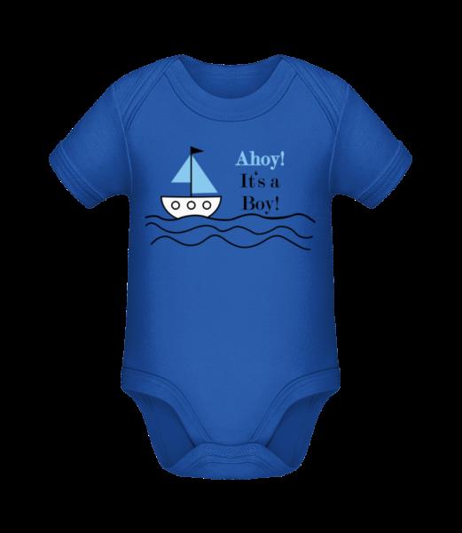 Ahoy! It's A Boy! - Body manches courtes bio - Bleu royal - Devant