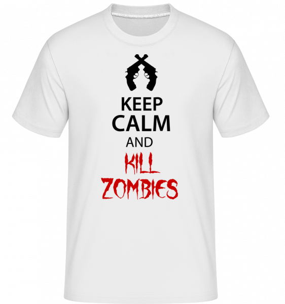 Keep Calm Kill Zombies - T-Shirt Shirtinator homme - Blanc - Devant