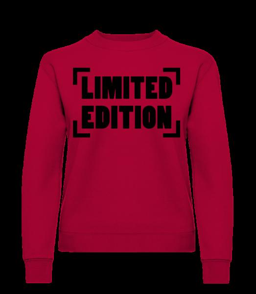 Limited Edition Logo - Sweat-shirt classique avec manches set-in pour femme - Rouge - Devant