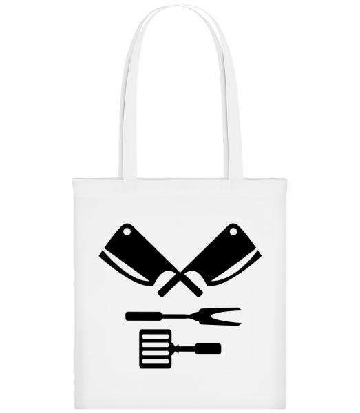 BBQ Equipment Black - Sac tote - Blanc - Devant
