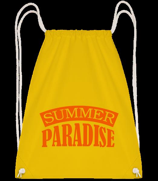 Summer Paradise Orange - Sac à dos Drawstring - Jaune - Devant