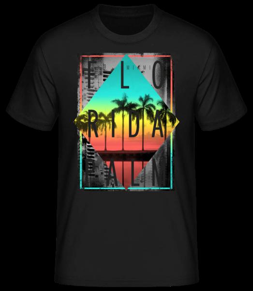 Florida Palm - T-shirt standard homme - Noir - Devant