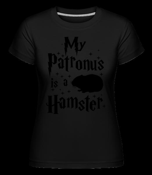 My Patronus Is A Hamster -  T-shirt Shirtinator femme - Noir - Devant