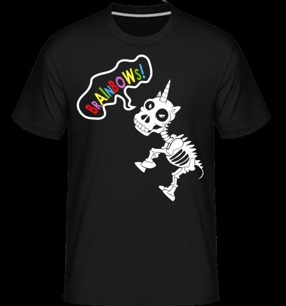 Dead Unicorn Rainbows - T-Shirt Shirtinator homme - Noir - Devant