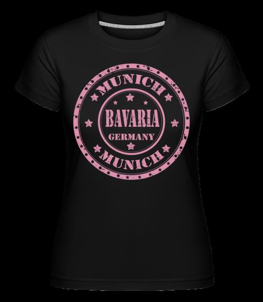 Munich Bavaria -  T-shirt Shirtinator femme - Noir - Devant