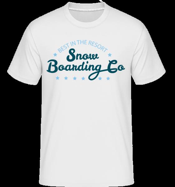 Snowboarding Co. Sign - T-Shirt Shirtinator homme - Blanc - Devant