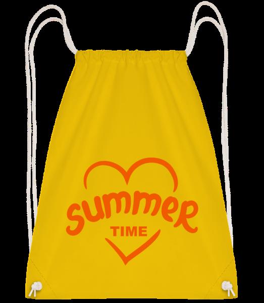 Summertime Heart - Sac à dos Drawstring - Jaune - Devant