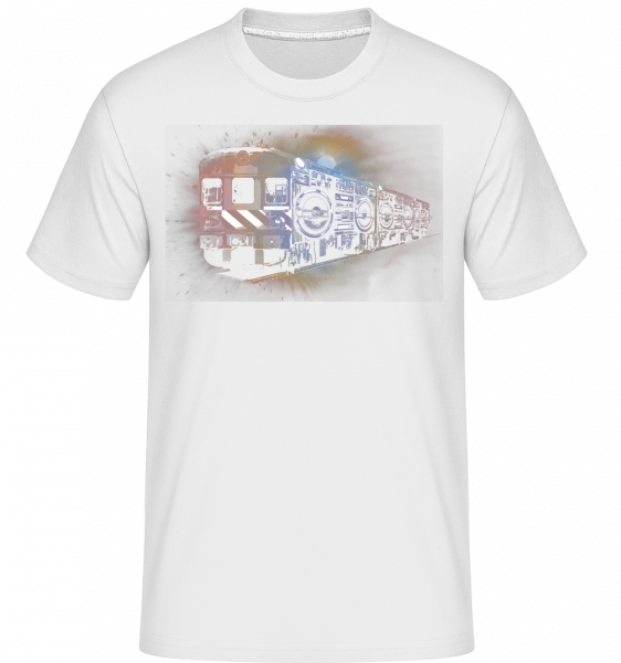 Ghetto Blaster Train - T-Shirt Shirtinator homme - Blanc - Devant