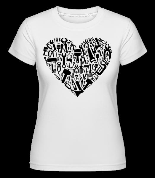 Love DIY Heart - T-shirt Shirtinator femme - Blanc - Devant