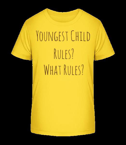 Youngest Child - T-shirt bio Premium Enfant - Jaune - Devant