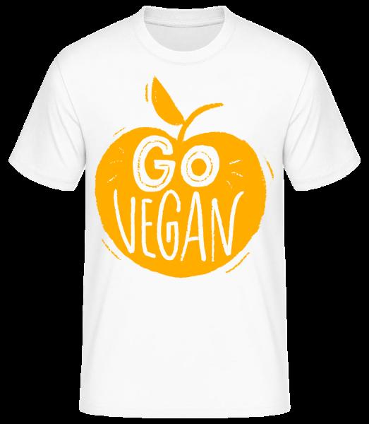 Go Vegan - T-shirt standard homme - Blanc - Devant