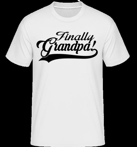 Finally Grandpa -  T-Shirt Shirtinator homme - Blanc - Devant