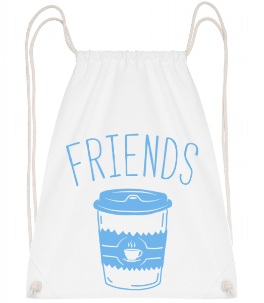 Friends Coffee - Sac à dos Drawstring - Blanc - Devant