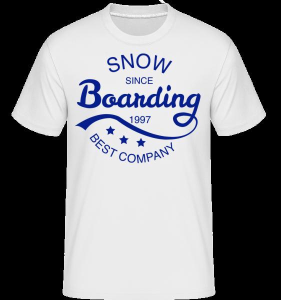 Snowboarding Since 1997 Logo - T-Shirt Shirtinator homme - Blanc - Devant