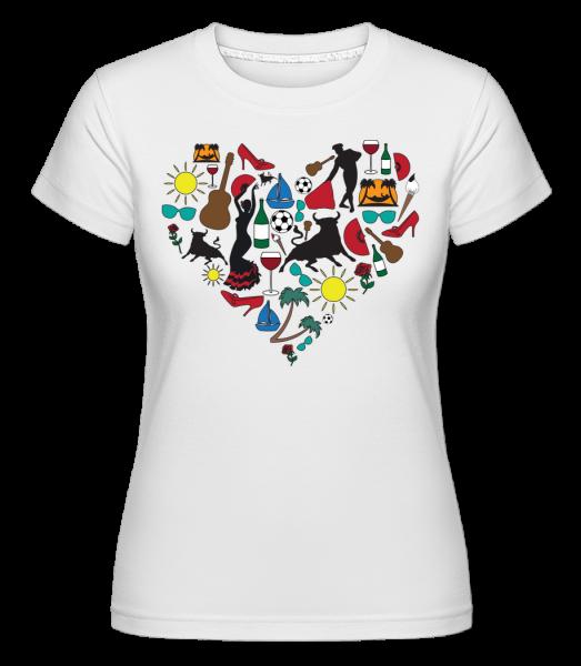 Cœur Espagne - T-shirt Shirtinator femme - Blanc - Devant