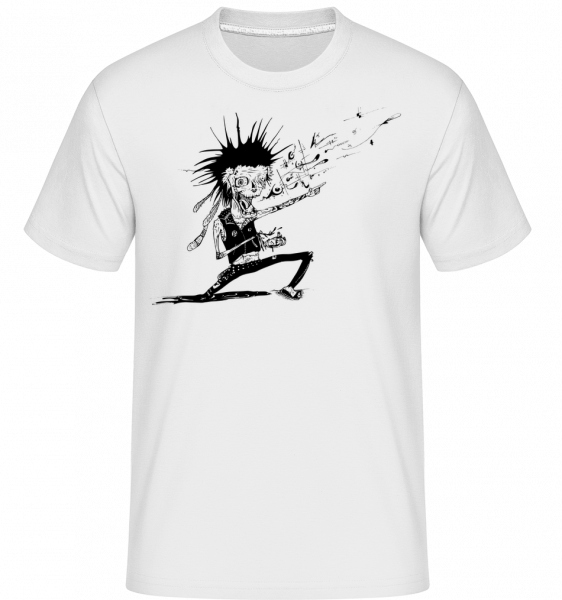 Zombie Fait De La Musique - T-Shirt Shirtinator homme - Blanc - Devant