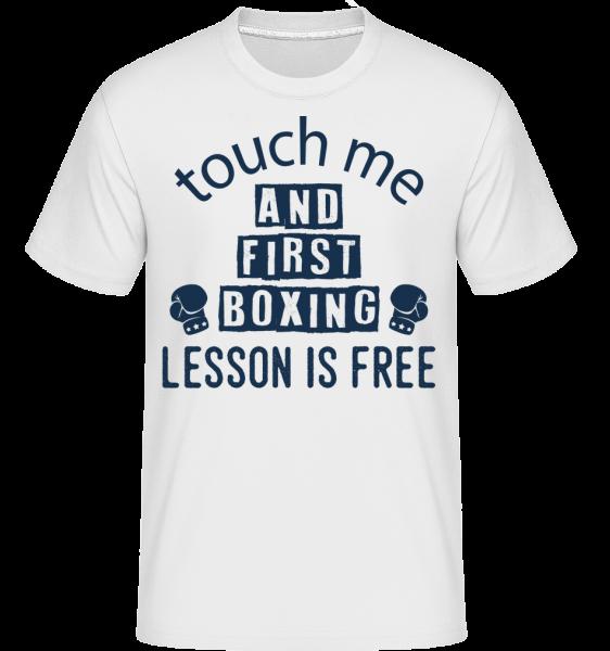 Free Boxing Lessons - T-Shirt Shirtinator homme - Blanc - Devant